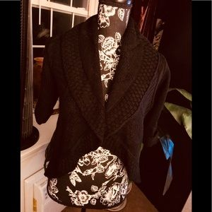 Dolled Up black knit shrug